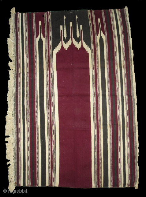 Jaa Namaz Praying Durrie,also known As Musala Durrie(Mat)From Gujarat.India. Hand made Cotton and Pure Indigo Colours.Its Size is 75cm X 112cm.(DSC01967 New)