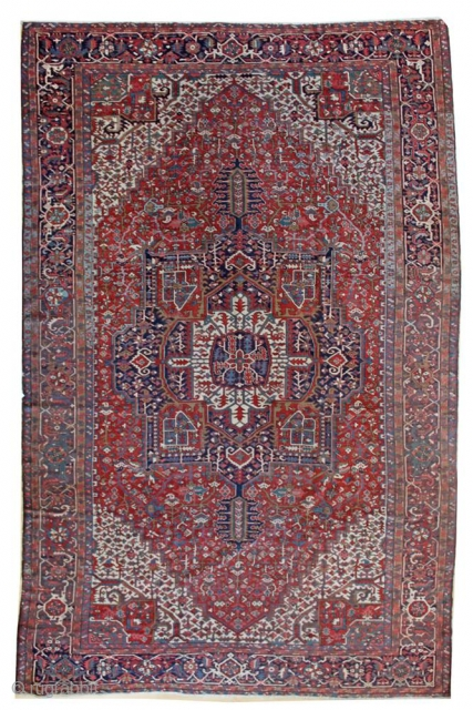 """Oversize Karaja in a Serapi design; 11'4"""" x 18'0""""; circa 1915: see our website for a large selection of antique Heriz rugs of all sizes; ID: JF4373"""