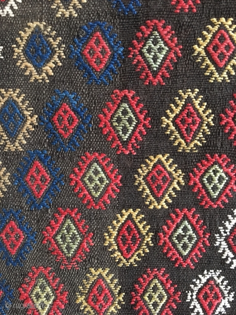 Antique verneh cower woven in one piece, probably Karabagh, Azerbaijan 1880-1910. All colours are organic and it has minor wear in the middle. A splendid piece.