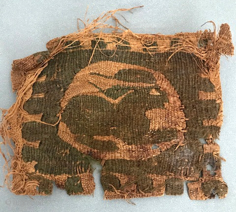 Small Coptic fragment of recumbent rabbit fresh to market away for 45 years.