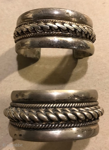 Nice silver Egyptian cuffs , high grade silver each sold separately.