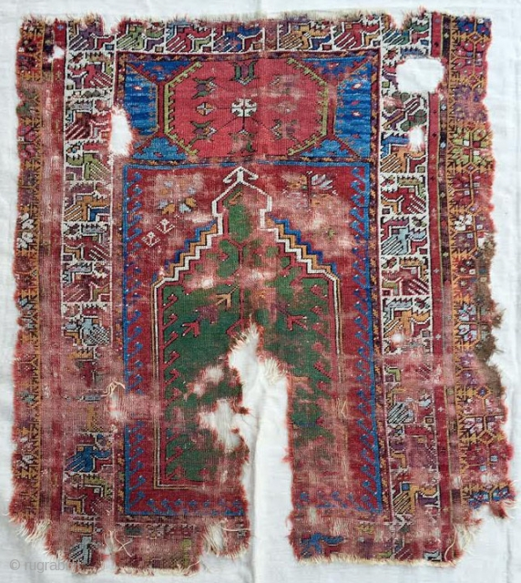 Early 19th Century Mudjur Prayer Rug size 106x116 cm