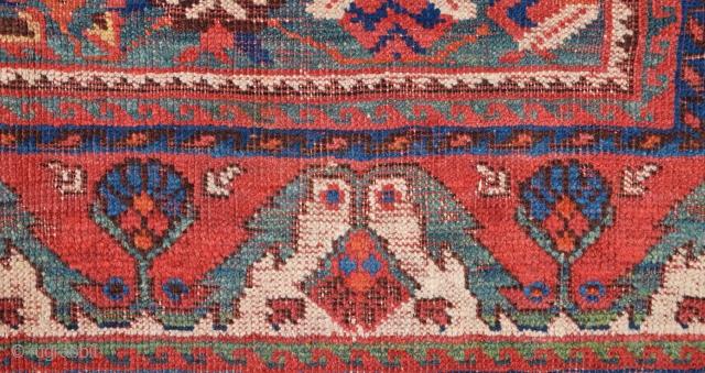 Persian Avshar Rug Fragment Size 72 x 124