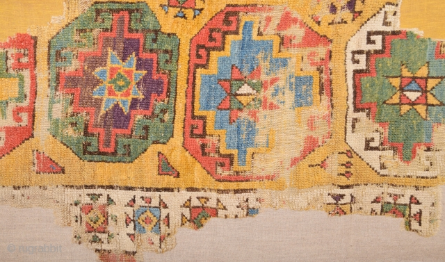 18th Century Anatolian Konya Fragment Size 110 x 195 Cm