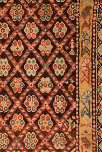 19th Century Caucasian Rug With Happy Colors.Completely Original.Size 134 x 222 Cm