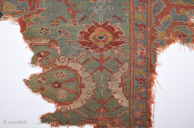 Early 18th Century Ushak Fragment It has great colors.Size 100 x 120 cm