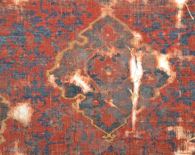 17th Century Ushak Fragment Size 115 x 125 Cm