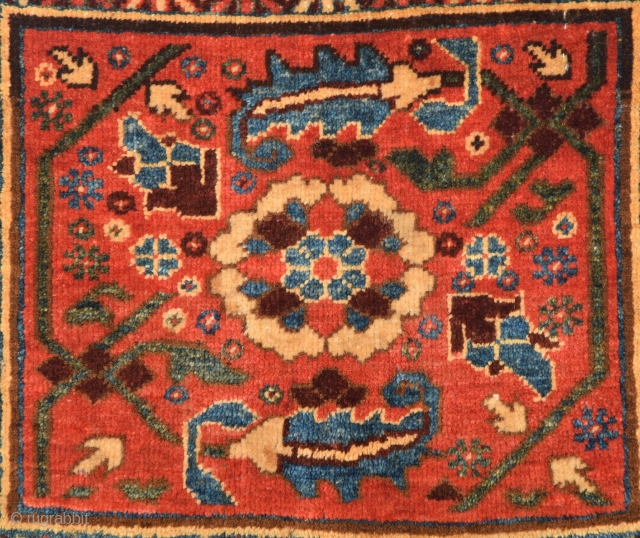 19th Century Karakalpak Beauty Bagface.All The Colors Are Naturel And Untocuhed One.It'sin Good Condition.Size 37 x 43 Cm.