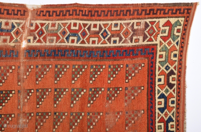 Really Unusual 18th Century An important Central Anatolian Probably Aksaray Area Rug.Size 135 x 205 Cm.Please Ask For Whole And More Pictures.