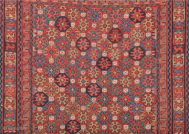 Really Fine Shahsavan Sumak Circa 1860s It's in perfect condition Size 49 x 54 cm