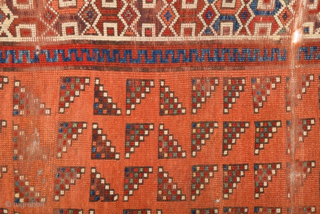 Really Unusual 18th Century An important Central Anatolian Probably Aksaray Area Rug.Size 135 x 205 Cm.Never Seen Like This Before Really Unusual One.