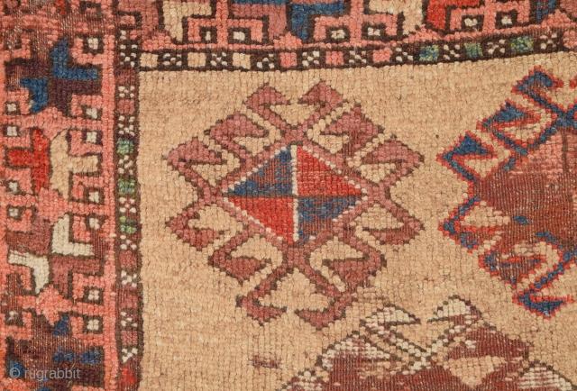 Circa 1800s Maybe Older Anatolian Kurdish Unusual Rug.Collectible Piece.Size 95 x 140 Cm
