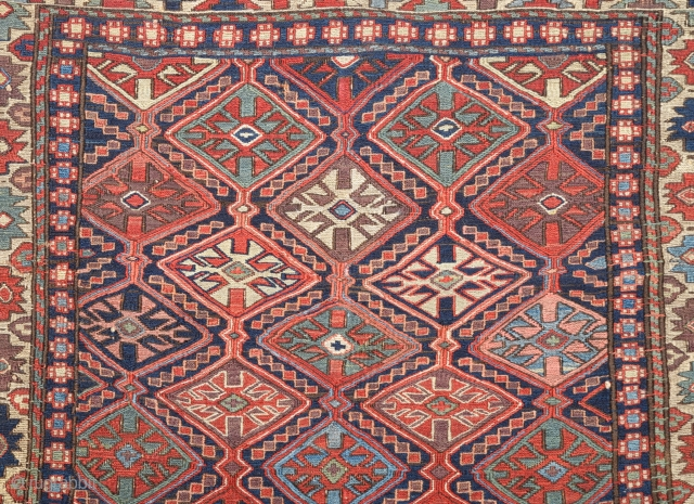 19th Century Shahsavan Sumac ın Good Condition And Colorful One.Size 60 x 70 Cm.