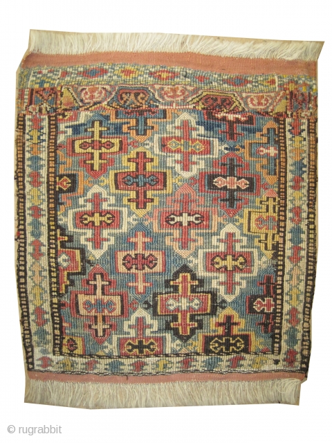 "Moghan Caucasian circa 1905 antique, collector's item, Size: 45 x 43 (cm) 1' 6"" x 1' 5"" 
