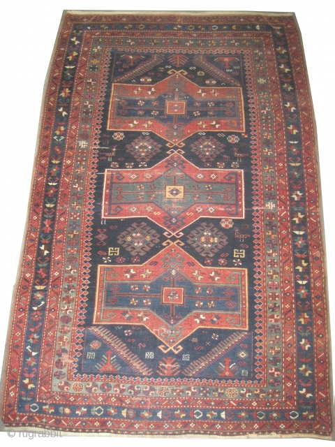 "Fachralo Kazak Caucasian circa 1905 antique. Collector's item. Size: 234 x 147 (cm) 7' 8"" x 4' 10""  carpet ID: K-3229
