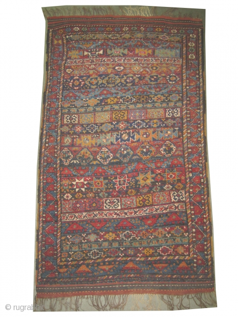 """Gutschan Kurd Persian circa 1910 Size: 190 x 116 (cm) 6' 3"""" x 3' 10""""  carpet ID: E-280 Vegetable dyes, knotted with 14 different colors, the knots are hand spun  wool,  ..."""