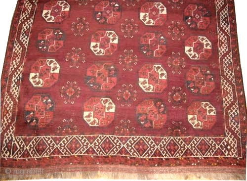 "Tschaudor Turkmen, knotted circa in 1905 antique,  310 x 234 (cm) 10' 2"" x 7' 8""  carpet ID: P-5978