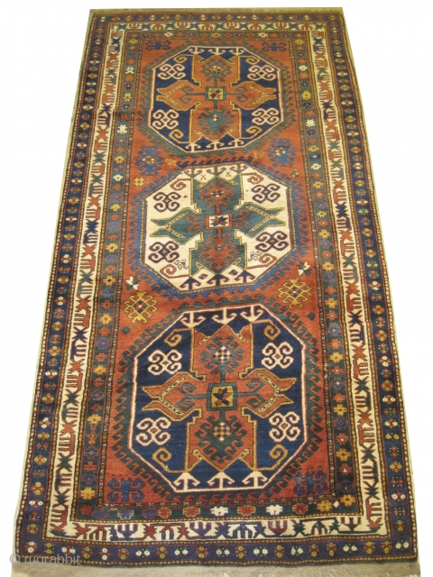 "Lori-pambak Caucasian knotted circa in 1910 antique, collector's item. 295 x 156 (cm) 9' 8"" x 5' 1""  carpet ID: V-62