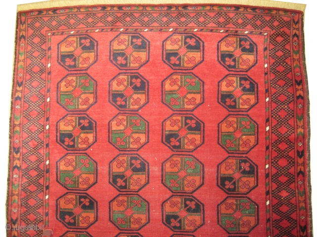 Kirghiz Kirghistan, knotted circa in 1910 antique. 183 x 132 (cm) 6'  x 4' 4"