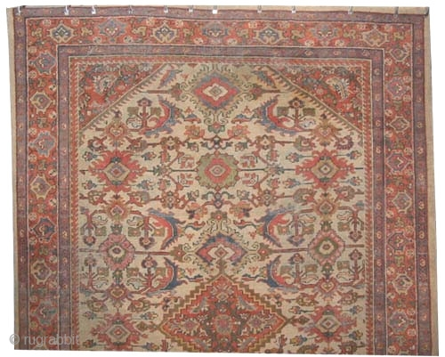 "Mahal Persian circa 1915 antique. Size: 293 x 202 (cm) 9' 7"" x 6' 7""  carpet ID: P-5996