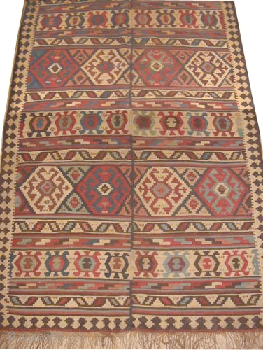 "Shirvan Caucasian circa 1895 antique. Collector's item, Size: 300 x 160 (cm) 9' 10"" x 5' 3""  carpet ID: A-1174