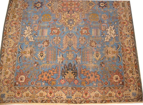 "Tabriz Persian circa 1925 semi-antique, Size: 302 x 196 (cm) 9' 11"" x 6' 5""  carpet ID: P-2244