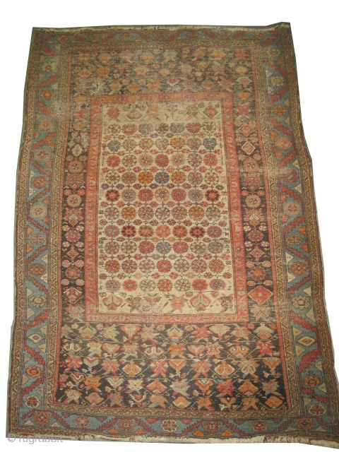 "Bakshaish-Heriz Persian knotted circa in 1870 antique, collector's item,  197 x 130 (cm) 6' 6"" x 4' 3""  carpet ID: K-3190