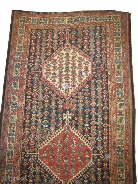 "Louri Kurdistan Persian circa 1910 antique. Collector's item, Size: 363 x 182 (cm) 11' 11"" x 6'  carpet ID: P-6179