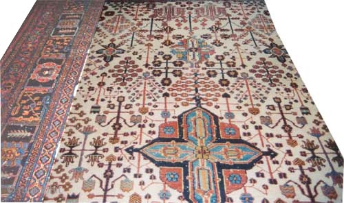 "Joshagan Persian circa 1925 Semi antique. Size: 419 x 271 (cm) 13' 9"" x 8' 11"" 