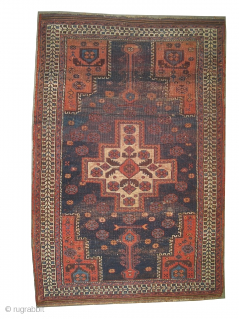 """Afshar Persian knotted circa in 1910 antique, 170 x 113 (cm) 5' 7"""" x 3' 8""""  carpet ID: K-5623 The knots, the warp and the weft threads are hand spun wool. The  ..."""