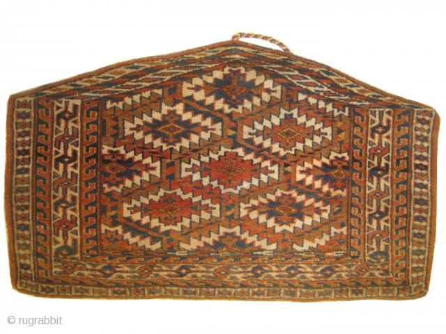 """Yemouth Osmalduk Turkmen knotted circa in 1905 antique, collectors item, 96 x 56 (cm) 3' 2"""" x 1' 10""""  carpet ID: BRDI-3 The warp and the weft threads are hand spun wool,  ..."""