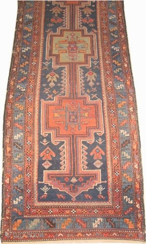 "Farahan Persian, circa 1910 antique. Size: 294 x 96 (cm) 9' 8"" x 3' 2"" , Carpet ID: K-3895 