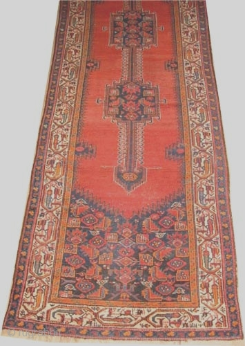 "Farahan Persian, circa 1905, antique. Collector's item, Size: 411 x 109 (cm) 13' 6"" x 3' 7""  carpet ID: K-4081 