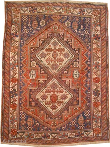 "Afshar Persian circa 1910, antique. Collector's item,  Size: 175 x 130 (cm) 5' 9"" x 4' 3""  carpet ID: K-5562 