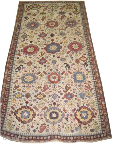 "Shusha Caucasian, antique, collectors item.Size: 386 x 193 (cm) 12' 8"" x 6' 4"" carpet ID: V-156 
