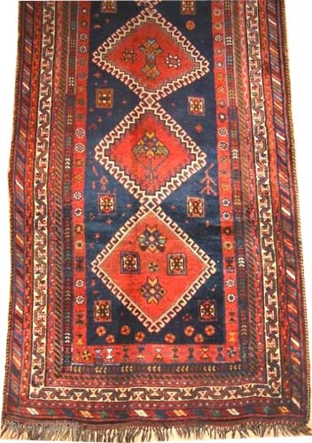 "Louristan Kurd Persian, circa 1908, antique. Collector's item, Size: 238 x 132 (cm) 7' 10"" x 4' 4""  carpet ID: K-2392 