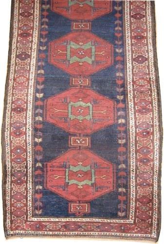 "Noubaran Persian, circa 1912, antique, Size: 330 x 104 (cm) 10' 10"" x 3' 5""  carpet ID: K-4101  vegetable dyes, the black color is oxidized, the knots are hand spun wool,  ..."