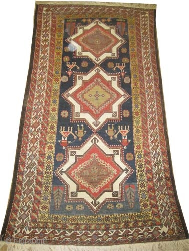 "Baktiar Louri Persian, circa 1890, antique. Collector's item. Size: 287 x 152 (cm) 9' 5"" x 5'  carpet ID: K-624 