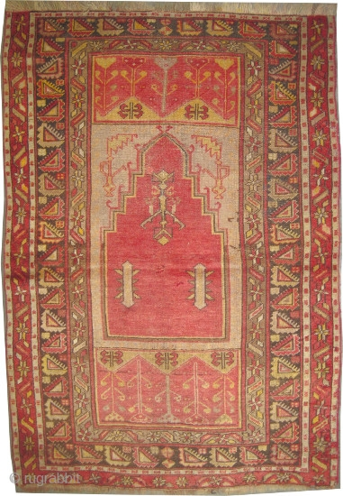 "Ladik Turkish, antique,circa 1900, Size: 180 x 115 (cm) 5' 11"" x 3' 9""  carpet ID: K-5571 