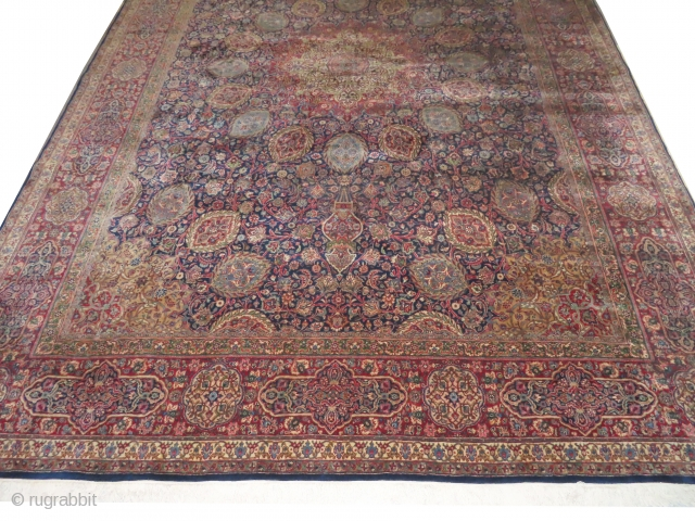 Kashan Kurk Persian, knotted circa in 1935, 340 x 483 cm, carpet ID: LUB-1
