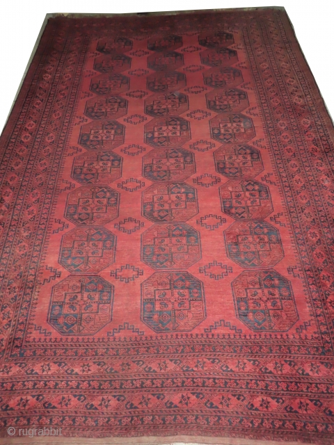 Afghan, knotted circa in 1910 antique, 286 x 440 cm, carpet ID: BRDI-20