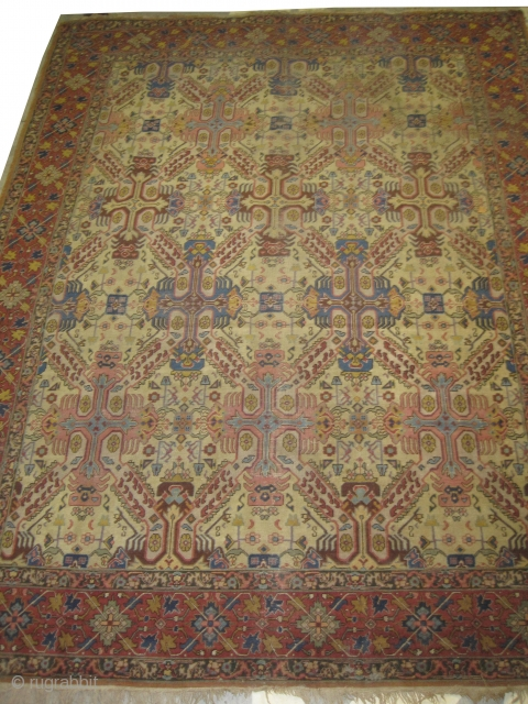 """Tabriz Persian 1930 semi antique, Size: 330 x 250 (cm) 10' 10"""" x 8' 2""""  carpet ID: GUR-2 vegetable dyes, the black color is oxidized, the knots are hand spun wool, the  ..."""