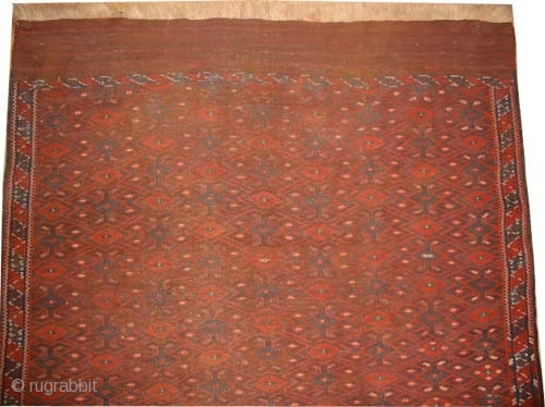 """Yemouth Turkmen Kelim circa 1910. Antique Size: 307 x 191 (cm) 10' 1"""" x 6' 3""""  carpet ID: A-1218 vegetable dyes, woven with hand spun wool and with two different techniques, the  ..."""
