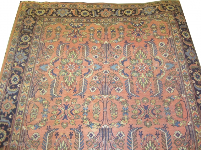 "Ziegler Mahal Persian circa 1895. Antique, Size: 378 x 274 (cm) 12' 5"" x 9'   carpet ID: P-1036