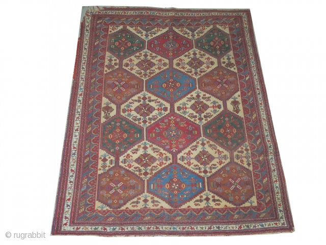 Afshar Persian, knotted circa in 1905, antique, 163 x 195 cm, carpet ID: BRDI-39