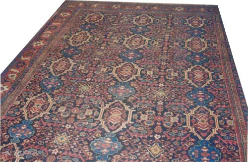 "Mahal Persian circa 1922 antique, Size: 471 x 360 (cm) 15' 5"" x 11' 10""  carpet ID: P-2148