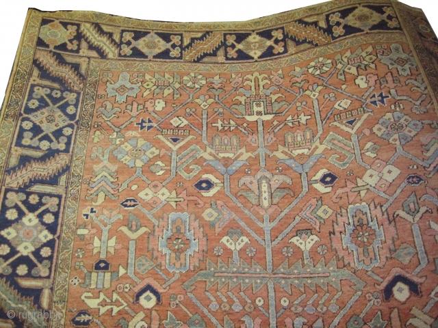 "Bakshaish Heriz Persian circa 1890 antique. Size: 341 x 244 (cm) 11' 2"" x 8'   carpet ID: P-2403   The knots are hand spun lamb wool, high pile, perfect condition,  ..."