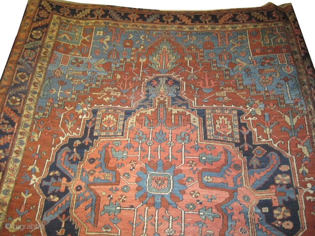 "Serapi Heriz Persian circa 1890, antique. Size: 350 x 254 (cm) 11' 6"" x 8' 4""  carpet ID: P-3035