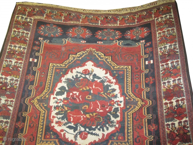 """Baktiar Persian knotted circa in 1905 antique, Size: 336 x 190 (cm) 11'  x 6' 3""""  carpet ID: P-1694 In good condition, fine knotted, the design has European influence with two  ..."""