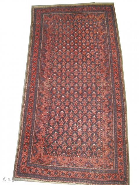 "Belutch Persian circa 1918 antique. Collector's item, Size: 200 x 102 (cm) 6' 7"" x 3' 4""  carpet ID: K-4792